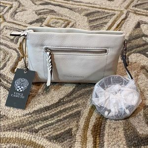 Vince camuto white leather small shoulder bag nwt